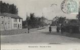 Marne- Warmériville -Rue De La Gare, Carte Photo. - Other Municipalities