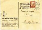 """D-Berlin 1937. """"Altstoffe Sammeln Und Abliefern"""" Mit Markenlochung (1.022) - Allemagne"""