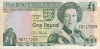 Jersey P26a - 1 £ ND - 2000, Signé Ian Black, Préfixe à 2 Lettres (YC) - Circulé - Jersey