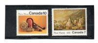 2 Timbres Du Canada Avec Indiens   (neufs Avec Charnière) - American Indians