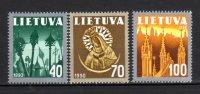 LITUANIE - 1991 -  N° 406/408   ** - Lituania