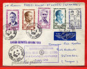 FRANCE N°1198/1202 RESISTANTS SUR LETTRE DU 02/05/1959 DE NEUILLY/MARNE POUR ISTAMBOUL TURQUIE COVER - Postmark Collection (Covers)