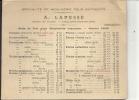 51 - Chalons Sur Marne : Carton Pub Menuiserie A. Lepessé