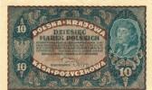 Poland 10 Marek 1919 Very Good Condition - Coins & Banknotes