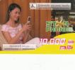 LAOS - Girl On Phone, Star Phone, LAT Mini Prepaid Card 10000 Kip, Exp.date 01/01/09, Used - Laos