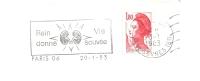 Rein, Transplantation, Organe, Don - Flamme Secap - Enveloppe Entière   (J052) - Medicina