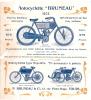 Motocyclette/ Bruneau/Moteur/Tours/1905                                                           VP108 - Vieux Papiers