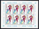 Russia Scott #5628a MNH Minisheet Of 8 10k Cross-country Skiing - 1988 Winter Olympics - Neufs