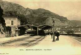 MONTE CARLO Depart Du Train  TBE Non Circulée - Monte-Carlo