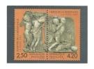 Cp, Timbres (Représentation),  Maquette Des Timbres-Postes, Martyrs Et Héros De La Résistance - Sellos (representaciones)