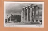 Grece Athene ( The Temple Of Olimpian Zeus ) Carte Photo Postale Postcard Photograph - Grèce