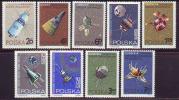 POLEN - POLSKA - SPACE - SATELIT  - ** MNH - 1966 - Mi.1730/37 - Space