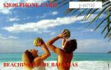 BAHAMAS $20 WOMAN & MAN ON THE BEACH CHIP BAH-C7D READ DESCRIPTION !! - Bahamas