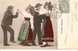 COSTUMES ALSACIENS ET PAS DE DANSE (COUPLES,COLORISEE) REF 24957 - Costumi