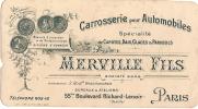 Automobile/Carroserie/Mer Ville Fils/Paris/vers 1900                            VP114 - Non Classificati