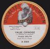 78 Tours - DUCRETET THOMSON X 8080 - Freddy BALTA - VALSE CHINOISE - VALSE HINDOUE - 78 Rpm - Gramophone Records