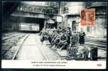 CPA.   GREVE DES CHEMINOTS DU NORD.  La Ligne Nord Occupée Militairement. - Grèves