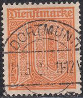 Germany Used Scott #O3 10pf Orange Cancel: ´Dortmund 21 5 21´ - Officials