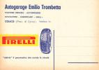 PUBBLICITA' ADVERTISING REKLAM WERBUNG PIRELLI AUTOGARAGE EMILIO TROMBETTA  COLICO COMO  PERFETTA AUTENTIQUE 100% - Pubblicitari