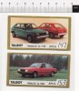 Ade052 Figurine, Stickers, Autocollant | Vintage Golden Cars, Auto Epoca, Voiture | TALBOT Horizon, Solara - Stickers