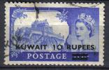 CI813 - KUWAIT 1955, 10 Rs / 10 Rs N. 116  Used - Kuwait