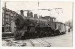 TRAIN  ESPAGNOL CARTE-PHOTO - GARE D´AMARA - Stations - Met Treinen