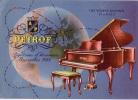 CARTE QSL CARD 1959 RADIOAMATEUR HAM RADIO OK-1 DOLNI UJEZD TCHECHOSLOVAQUIE CZECHOSLOVAKIA  PIANO PETROF MUSIQUE MUSIC - Música Y Músicos