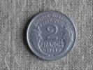 Pi�ce de 2 francs Morlon 1948 B. Voir photos.