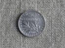 Pièce De 50 Centimes 1920 ( Argent) Semeuse . T B. Voir Photos. - G. 50 Centimes