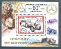 North Korea 1986 Mi Block No. 211 Old Car Symbols Inventors - Automobili