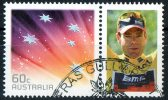 Australia 2011 60c Red Southern Cross With Cadel Evans Cycling Tour De France Tab CTO - - - 2010-... Elizabeth II