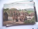 Africa Afrika South Africa Zulu Kraal People - Kenia