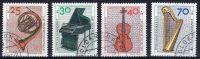 1973, Bienfaisance - Instruments De Musique, Y&T  No. 631 - 634, Oblitéré, Lot 40985 - Musik
