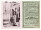 Chocolat Louit, Salon 1891: Claude, Invocation à La Madonne +Avis Important. V. Verso - Louit
