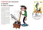 Cpm Gaston Lagaffe Invente Le Frein à Disque, Fête Du Timbre 2000 à Séméac /65 (gl11) - Non Classés