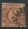Allemagne - Anciens Etats, Bavière Mi No 4 II (Y&T 5) Oblitéré, Voir Scan - Bavière