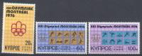 CYPRUS  454/56   XX  MNH  POSTGAAF  NEUF  S.C. OLYMPICS MONTREAL 1976 - Summer 1976: Montreal