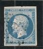 PC 2221 /  NANTES  / LOIRE INF    SUR N° 14 B  BLEU  SUR AZURE - LOT 11940 - 1853-1860 Napoleon III