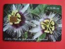 Chip Phone Card , $10 Etecsa, 30.000, Flower, Flor De La Pasionaria Passifora - Cuba