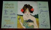 KIRCHNER Raphael - FRUITS DOUCES, REINE CLAUDE - Circulada En 1902, Sin Dividir,  - Tres Belle Carte De KIRCHNER Raphaël - Kirchner, Raphael