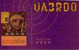 QSL CQ HAM RADIO UA-3 MOSCOW MOSCOU GAGARIN RUSSIA ESPACE SPACE SPOUTNIK SPUTNIK VOSTOK ORBIT MOON LUNE ROCKET MISSILE - Spazio