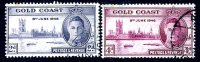 Gold Coast GVI 1946 Victory Set Of 2, Fine Used (A) - Gold Coast (...-1957)