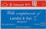 First Card Landis & Gyr Belgium (Mint,New) Catalogue 280 € Très Rare ! - Belgien