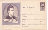 MUSIQUE;CIPRIAN PORUMBESCU,1961 CARD STATIONERY,ENTIER POSTAL,UNUSED ROMANIA. - Musique