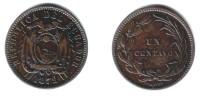 ECUADOR - 1 Centavo 1872 HEATON - KM#45 VF - Ecuador