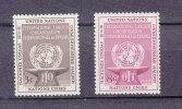 NATIONS  UNIES  NEW-YORK  1954   N° 27 - 28    NEUFS**   CATALOGUE YVERT - New York -  VN Hauptquartier