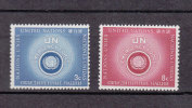 NATIONS  UNIES  NEW-YORK  1957   N° 50 - 51      NEUFS**   CATALOGUE YVERT - New York -  VN Hauptquartier