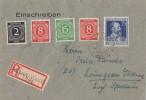 Gemeina. R-Brief Mif Minr.912,2x 917,922,964 Altena 4.8.47 - Gemeinschaftsausgaben
