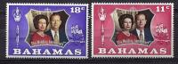 Bahamas, Year 1972, Mi 352-353, 25th Wedding Anniversary, MNH** - Bahamas (...-1973)