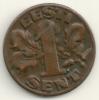 Eesti 1 Sent 1929 KM#10 - Estonia